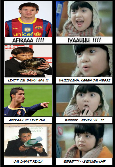 Komik Lucu Afika Vs Messi Dan C Ronaldo The Real Blog